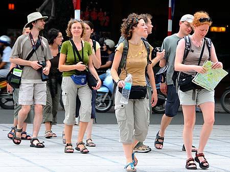 crossing street in Vietnam