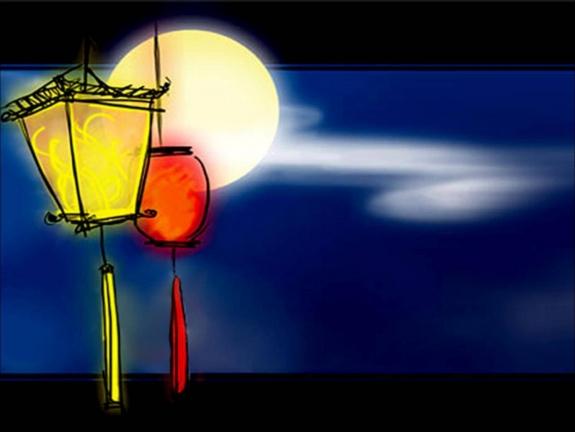 The Moon on Mid autumn festival